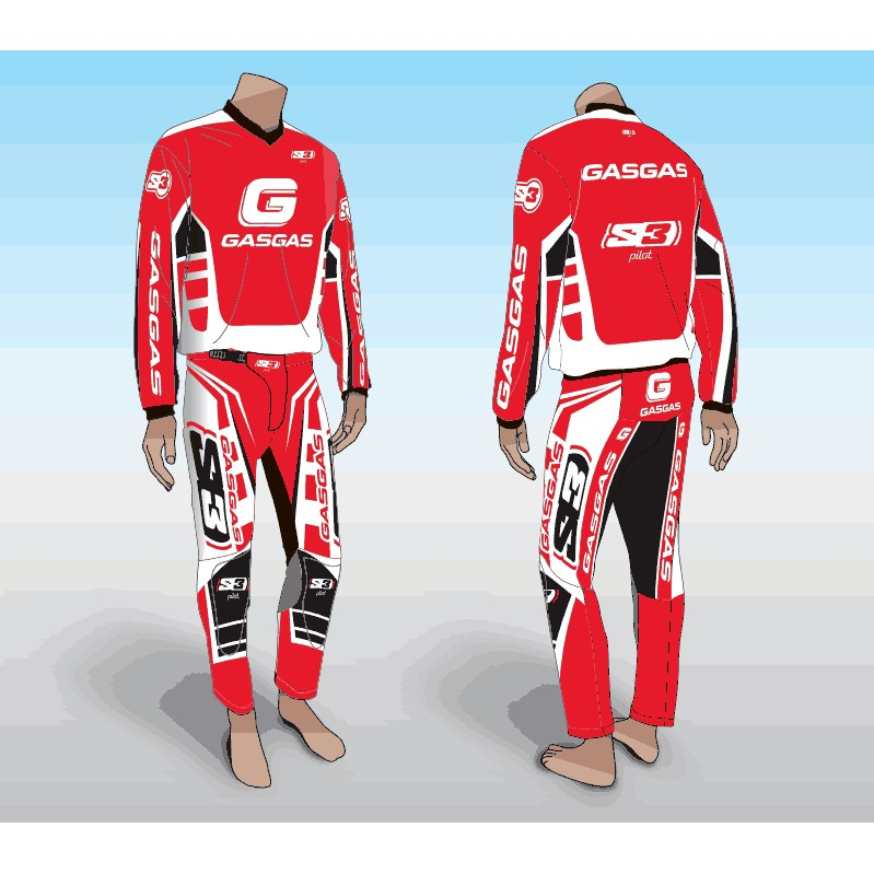 ENSEMBLE TENUE TRIAL  PANTALON MAILLOT S3 GASGAS RACING S XL XXL